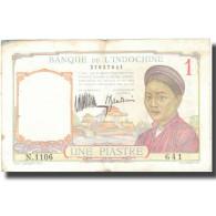 Billet, FRENCH INDO-CHINA, 1 Piastre, Undated 1932, KM:54a, TTB - Indochine