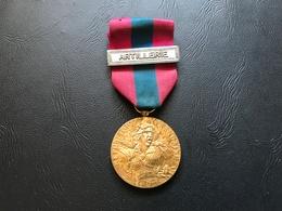 Medaille De La Defense Nationale Agrafe : ARTILLERIE - Echelon Bronze - France