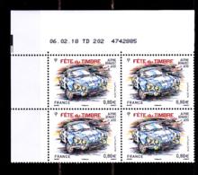 Coin Daté France 2018, 0.80 € X 4, CD 06.02.18  TD 202 / Sans Trait /  Alpine Renault A110 / Fête Du Timbre - Dated Corners