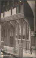 Rood Screen, St Mary's Church, Atherington, Devon, C.1930 - Knight RP Postcard - England