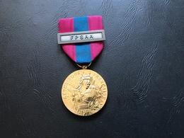 Medaille De La Defense Nationale Agrafe : FORCE DE PROTECTION  ET DE SECURITE DE L'ARMEE DE L'AIR - Echelon Bronze - France