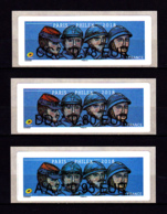 Atm-Lisa / Lot 0.78, 0.80, 0.95 € BROTHER / Poilus, 14-18, WWI / Paris-Philex 2018 - 2010-... Illustrated Franking Labels