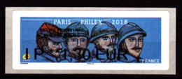 Atm-Lisa / Lettre Prio Monde  IP 1.30 € Nabanco / Poilus, 14-18, WWI / Paris-Philex 2018 - 2010-... Illustrated Franking Labels