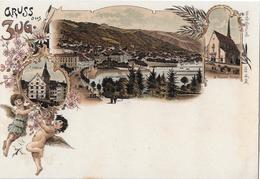 GRUSS AUS ZUG → Wunderschöne Mehrbild Lithokarte, Ca.1900 - ZG Zoug