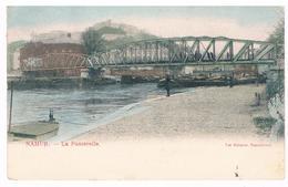 CPA Dos Non Divisé :  NAMUR - La Passerelle Du Tram Au Confluent, Enmoyen Plan - Namur