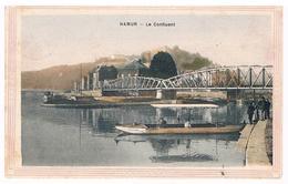 CPA : NAMUR - Le Confluent Et A Passerelle Du Vicinal, Passeur D'eau - Sous Forme D'une Aquarelle Dans Un Tableau - Namur