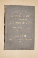 Ancien Catalogue D'usine,AN 1900,Laminoirs Forges Et Fonderie De Jemappe,V.Demerbe & Cie,54 Planches,19/13 Cm. - Publicités