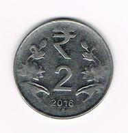 -&   INDIA  2  RUPEES  2016 - Inde