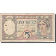 Billet, FRENCH INDO-CHINA, 5 Piastres, Undated (1926), KM:49b, TTB - Indochina