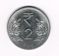 -&   INDIA  2  RUPEES  2012 - Inde