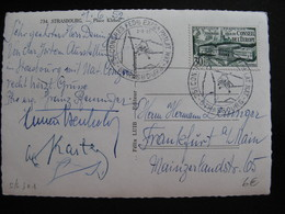 S/L 301 - TB C.P. Affranchie Avec N° 923 ;  De Strasbourg Pour L'Allemagne ( 02/06/1952) - Marcophilie (Lettres)