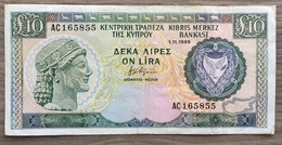 Chypre Billet 10 Livres 1989 - Chypre