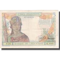 Billet, FRENCH INDO-CHINA, 5 Piastres, Undated (1936), KM:55c, TTB+ - Indocina