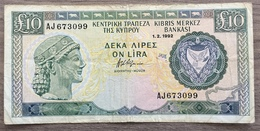 Chypre Billet 10 Livres 1992 - Chypre