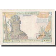 Billet, FRENCH INDO-CHINA, 5 Piastres, Undated (1936), KM:55c, TTB - Indochine