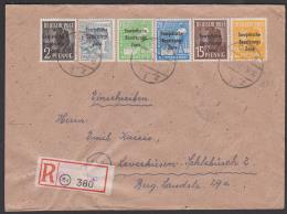 R-Brief SBZ-Aufdruck GERA 1, Portogenau Mit 6 Verschiedenen Wertstufen, Rs. Eingangsst. Leverkusen - Sowjetische Zone (SBZ)