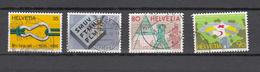 1988    N° 765 à 768  OBLITERES      CATALOGUE  ZUMSTEIN - Suisse