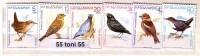 1987   BIRDS - Songbirds  6 V. - MNH BULGARIA / Bulgarie - Songbirds & Tree Dwellers