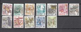 1986/889    N° 731 à 742  OBLITERES      CATALOGUE  ZUMSTEIN - Suisse