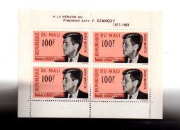 Mali - Feuillet -Kennedy- Voir état - Mali (1959-...)