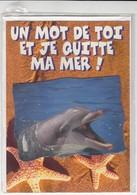 CARTE DE VOEUX - UN MOT DE TOI ET JE QUITTE MA MER ! - Non Ecrite - Stagioni & Feste