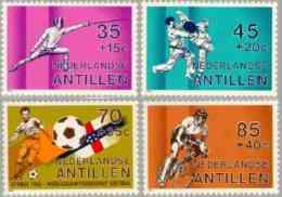 Ned Antillen 1982 Sports - Fencing -fighting- Football, Cycling NVPH 706, MNH** Postfris - Curaçao, Antilles Neérlandaises, Aruba
