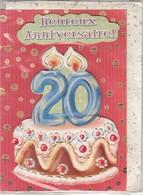 CARTE DE VOEUX - BON ANNIVERSAIRE 20 ANS - Non Ecrite - Stagioni & Feste