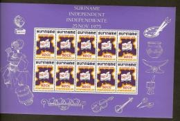 Suriname 1975 Velletje 703 Onafhankelijkheid - Independence Sheet 12x50ct MNH/**/Postfris - Surinam