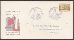 E21 1955 Zomer. Open Klep, Getypt Adres - FDC