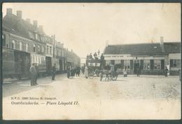 OOSTDUINKERKE Place LEOPOLD II Geanimeerd Postkaart Met Stoomtram Vicinal Exp. 1907 Vers Bruxelles - 13092 - Oostduinkerke