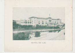 Suisse SAINT MORITZ Carton Annonçant La Réouverture De L'Hôtel Du Lac Le 1er Juin 1906 - Switzerland