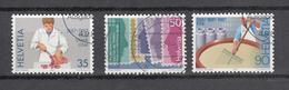 1987    N° 750 à 752   OBLITERES      CATALOGUE  ZUMSTEIN - Suisse