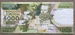Portugal Billet 5000 Escudos 1991 - Portugal