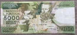 Portugal Billet 5000 Escudos 1988 - Portugal