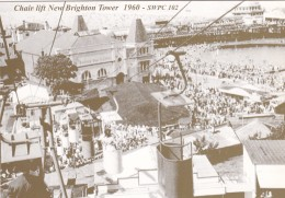 NEW BRIGHTON TOWER. CHAIR LIFT 1960   . REPRINT . MODERN - England