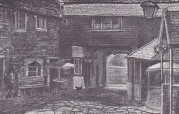 MELLS - THE TALBOT INN . REPRINT - England