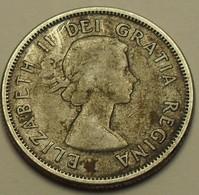 1956 - Canada - 25 CENTS, Elizabeth II, Argent, Silver, KM 52 - Canada