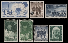 AAT / Austral. Antarktis 1957-1959 - Mi-Nr. 1-7 ** - MNH - 4 Ausgaben - Territoire Antarctique Australien (AAT)