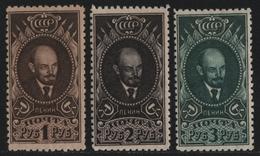 Russia / Sowjetunion 1926 - Mi-Nr. 308-310 A * - MH - - Gez. 10 1/2 - Lenin (I) - 1923-1991 URSS