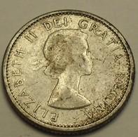1961 - Canada - 10 CENTS, Elizabeth II, Argent, Silver, KM 51 - Canada