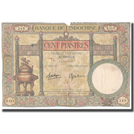 Billet, FRENCH INDO-CHINA, 100 Piastres, KM:51d, B+ - Indochine