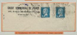 Louis Pasteur : N° 177   Sur Doc.  Obl.:    De 2 Timbres Roulette - Parcel Post