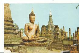 Thailand  Budh'a Image At Wat Mahathat In The Sukkhothai - Thailand