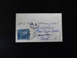 LETTRE POUR PARIS A MR LE COMTE  -  1941  -  CACHET  A .C  -  AFFRANCHISSEMENT  1 F 75  BELGIQUE - Marcophilie (Lettres)