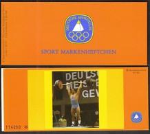 Germany Berlin 1980 / Weightlifting / Sport Help, Olympic Sporthilfe / Markenheftchen, Booklet, Carnet MNH - Halterofilia