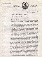 DECRET -MINISTERE DE L'INTERIEUR -LUCIEN BONAPARTE -NOMINATION ADMINISTRATEUR A LA PLACE DES PREFETS - 21 VENTOSE AN 8 - Décrets & Lois