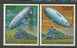 PA DIRIGEABLE N° 121 ET 122  NEUF**  SANS CHARNIERE  / MNH - Comoros