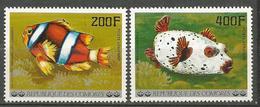 PA POISSONS N° 128 ET 129  NEUF**  SANS CHARNIERE  / MNH - Comoros