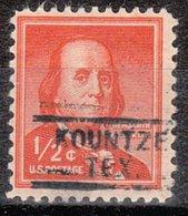 USA Precancel Vorausentwertung Preo, Locals Texas, Kountze 729 - Etats-Unis