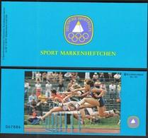 Germany Berlin 1982 / Athletics / Sport Help, Olympic Sporthilfe / Markenheftchen, Booklet, Carnet MNH - Atletismo